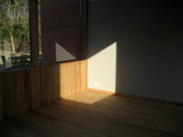 Mid-day light litting up the corner
