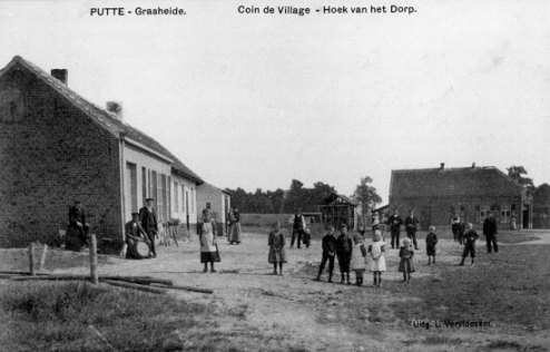 Old postcard (early 1900's) showing the house to the right