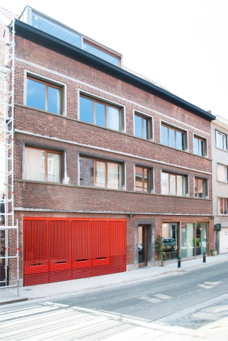 Street facade of the building