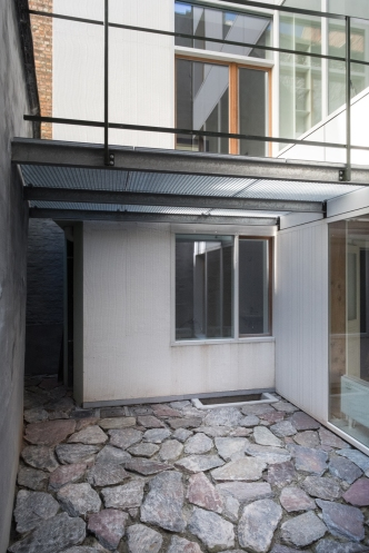 Courtyard at basement level