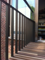 Outside sliding window and balustre